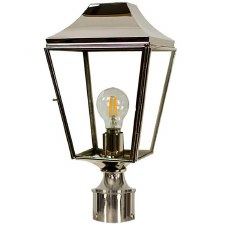 "Knightsbridge Lamp Post Head to suit 2"" dia. Polished Nickel"