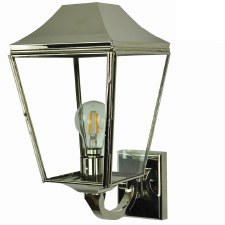 Knightsbridge Outdoor Wall Lantern Polished Nickel