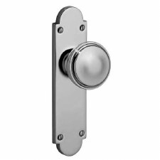 Victorian 605K Door Knob On Latch Plate Polished Chrome