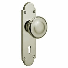 Victorian Constable 604K Door Knobs Polished Nickel