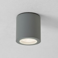 Kos Spot Light Round Textured Painted Silver