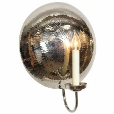 La Luna Wall Light Sconce Large Polished Nickel