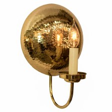 La Luna Wall Light Sconce Small Polished Brass Unlacquered