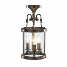 Lambeth 3 Light Hall Lantern Antique Brass