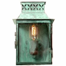 Elstead Lambeth Palace Outdoor Wall Lantern Verdigris