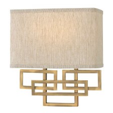 Hinkley Lanza Wall Light Brushed Bronze