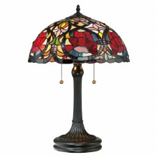 Quoizel Larissa Tiffany Table Lamp Vintage Bronze
