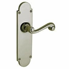 Victorian Constable 619/1 Door Handles Polished Nickel