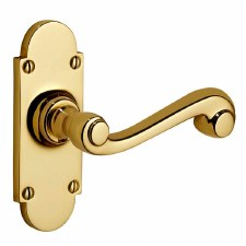 Victorian Constable 606 Door Handles Polished Brass Unlacquered
