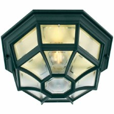 Elstead Latina Flush Outdoor Wall or Ceiling Light Black
