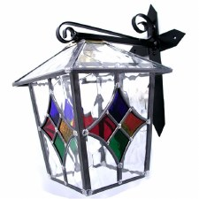 Large Square Leaded Outdoor Wall Lantern