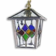 Lead Hanging Chain Lantern Multicolour