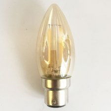 LED Delicately Tinted Candle Bulb BC 1 Watt