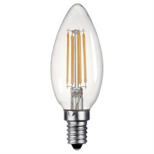 LED SES Candle Bulb Clear 4W Dimmable