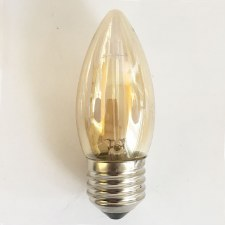 LED Decilately Tinted Candle Bulb ES 1 Watt