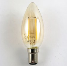 LED Delicately Tinted Candle Bulb SBC 1 Watt