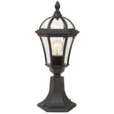 Elstead Ledbury Pedestal Lantern Light Black