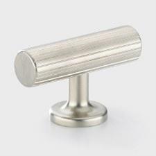 Armac Leebank Cupboard Door T Bar Handle Polished Nickel