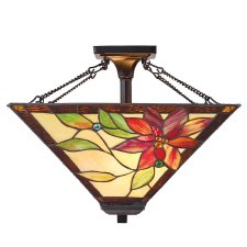 Interiors 1900 Lelani Tiffany Medium Semi Flush Light 70767