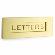 Croft Letter Plate 6355 305mm Polished Brass Unlacquered