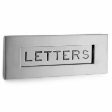 Croft Letter Plate 6355 305mm Polished Chrome