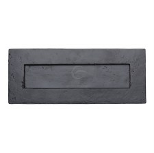 Heritage Letter Plate FB465 Black Iron Rustic