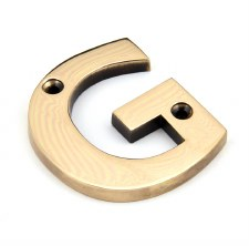 From The Anvil Letters G Polished Bronze