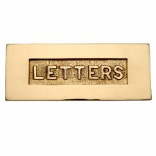 Heritage Letter Plate V845 Polished Brass Lacquered