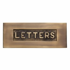 Heritage Letter Plate V845 Antique Brass Lacquered