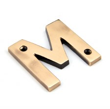 From The Anvil Letters M Polished Bronze