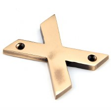 From The Anvil Letters X Polished Bronze