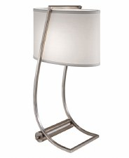 Feiss Lex Desk Lamp Brushed Steel with USB Port