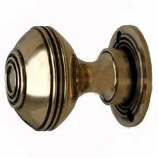 Large Burton Door Knobs Renovated Brass