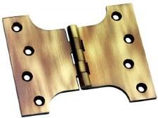 "Prima Brass SCP236 Parliament Hinge 4"" x 4"" x 6"" Antique Brass Lacquered"
