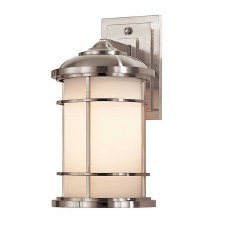 Feiss Lighthouse Outdoor Wall Lantern Medium Brushed Steel