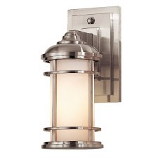 Feiss Lighthouse Outdoor Wall Lantern Small Brushed Steel