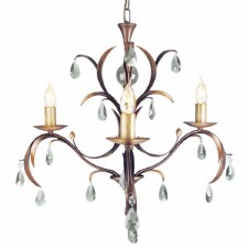Elstead Lily 3 Arm Chandelier