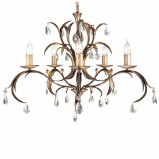 Elstead Lily 5 Arm Chandelier
