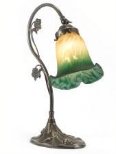 Lily Leaf Base Art Nouveau Table Lamp