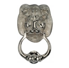 Heritage K1210 Lion Head Door Knocker Polished Nickel
