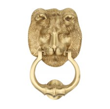 Heritage K1210 Lion Head Door Knocker Satin Brass