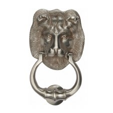 Heritage K1210 Lion Head Door Knocker Satin Nickel
