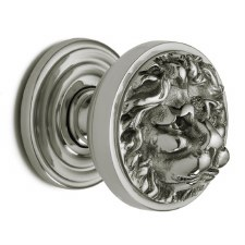 Croft 1734 Lion Head Door Knobs Polished Nickel