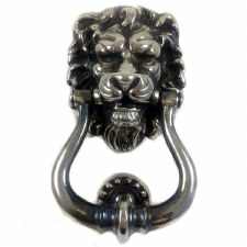 Lion Head Door Knocker Antique Nickel