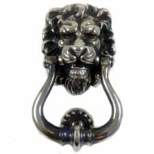 Lion Head Door Knocker Antique Nickel