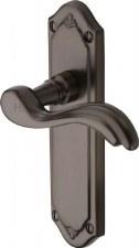 Heritage Lisboa Latch Door Handles MM992 Matt Bronze