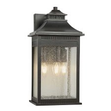 Quoizel Livington Outdoor Wall Lantern large Imperial Bronze