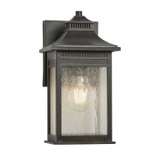 Quoizel Livington Outdoor Wall Lantern Small Imperial Bronze