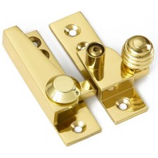Croft Lockable Sash Fastener Polished Brass Lacquered