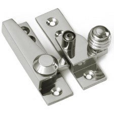 Croft Lockable Sash Fastener Polished Nickel